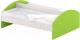 Кровать двойная с перегородкой детская Славянская столица ДУ-КД16-2 (белый/зеленый) -
