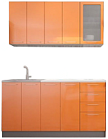 Готовая кухня Аметиста Олива 1.6 (оранжевый) -