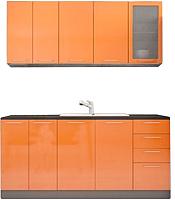 Готовая кухня Аметиста Олива 1.8 (оранжевый) -