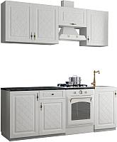 Готовая кухня Аметиста Гранд 2.1 (белый) -