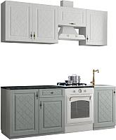 Готовая кухня Аметиста Гранд 2.1 (пепел/белый) -