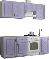 Готовая кухня Аметиста Гранд 2.1 (фиалка) -