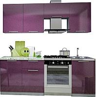 Готовая кухня Аметиста Олива 2.1 (сиреневый) -