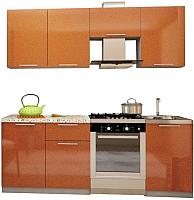 Готовая кухня Аметиста Олива 2.1 (оранжевый) -