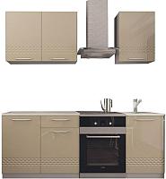 Готовая кухня Аметиста Капля 1.5 (глянец/капучино) -