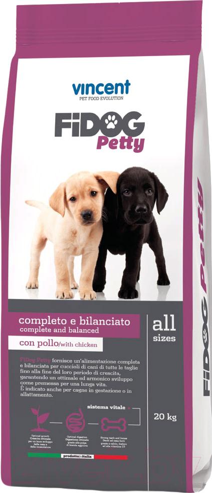 Купить Корм для собак Vincent, Fidog Petty (20кг), Италия