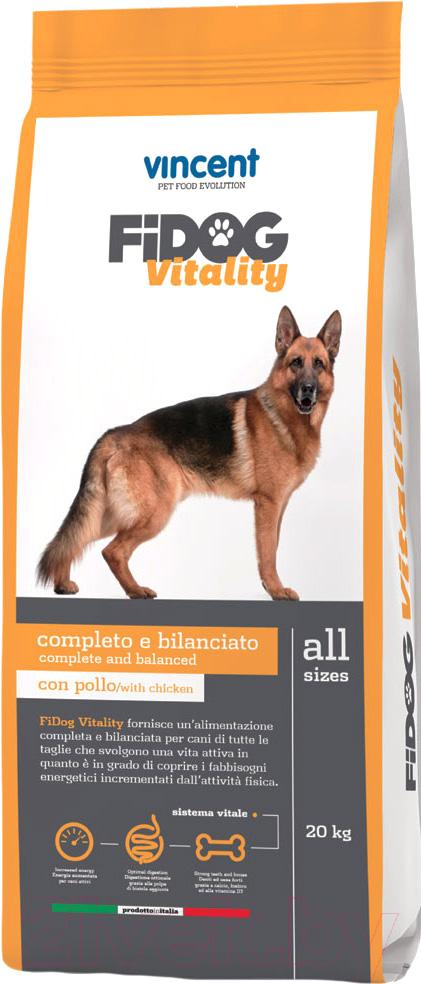 Купить Корм для собак Vincent, Fidog Vitality (20кг), Италия