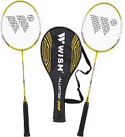 Набор для бадминтона WISH Alumtec 308 (желтый/серый/черный) -