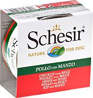 Корм для собак Schesir Chicken & Beef (150г) -