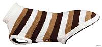 Свитер для животных Trixie Hamilton / 30542 (S, коричневый с белыми полосками) -