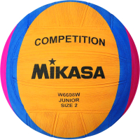 Мяч для водного поло Mikasa Junior W6608W (размер 2, желтый/синий/розовый) -