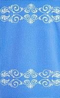 Полотенце Aquarelle Шарлиз 50x90 (белый/спокойный синий) -