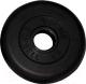 Диск для штанги MB Barbell d31мм 1кг (черный) -