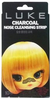 Купить Набор масок для лица Luke, Charcoal Nose Cleansing Strip очищ. угольная от черных точек, Южная корея