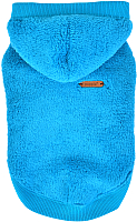 Толстовка для животных Puppia Willa с капюшоном / PATD-TS1756-AQ-M (голубой) -