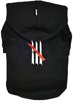 Толстовка для животных Dogtrine Embroidered / DTAA-EH1001-BK-L (L, черный) -