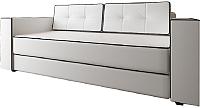 Диван Настоящая мебель Принстон экокожа (белый/черный кант) -