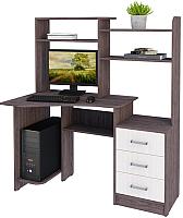 Компьютерный стол Астрид Мебель КС №16 / ЦРК.КСТ.16 (анкор темный/анкор белый) -