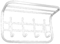 Вешалка для одежды Титан Мета ТСП1 (белый) -