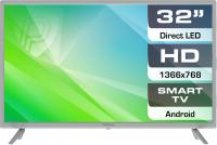 Телевизор Prestigio Top 32 / PTV32SS04Z (серебристый) -