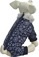 Комбинезон для животных Triol Снежинки TR108XS / 12211258 (синий) -