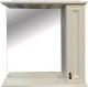 Шкаф с зеркалом для ванной Misty Лувр 85 R / П-Лвр03085-1014П (слоновая кость) -