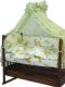 Комплект в кроватку Топотушки Жираф Вилли / 650М/4 (зеленый) -