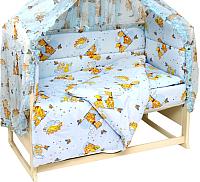 Комплект постельный в кроватку Топотушки Жираф Вилли / 650М/2 (голубой) -