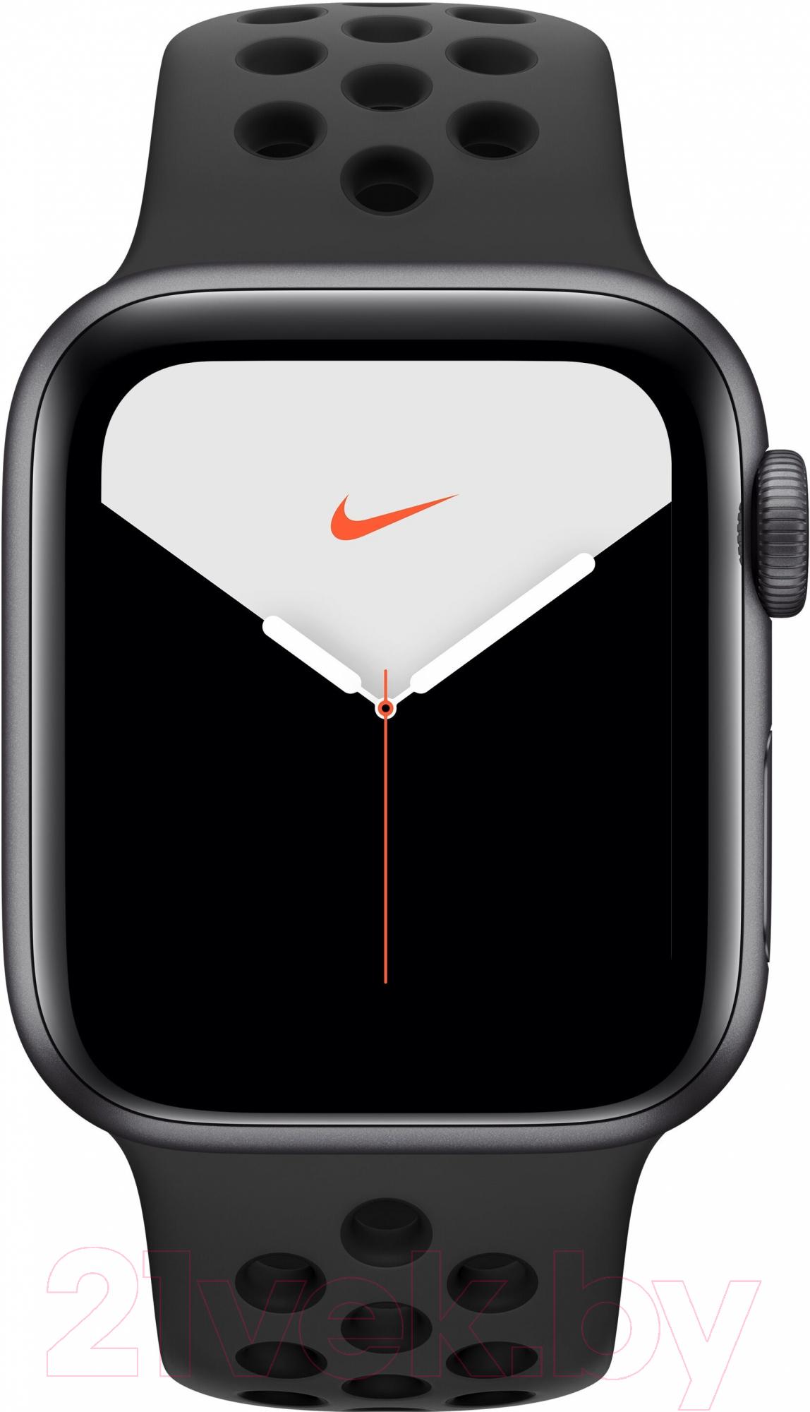 Купить Умные часы Apple, Watch Series 5 Nike+ GPS 40mm / MX3T2 (алюминий серый космос/антрацитовый, черный), Китай