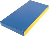 Гимнастический мат No Brand 1x0.5x0.1м (синий/желтый) -