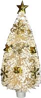 Ель искусственная Merry Bear Настольная белая украшенная с подсветкой L55-F1281B/2 (25.5см) -