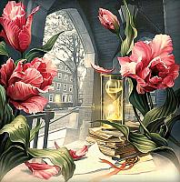 Набор алмазной вышивки Алмазная живопись Магия времени / АЖ-1558 -