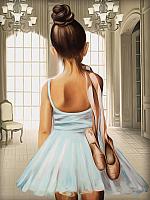 Набор алмазной вышивки Алмазная живопись Юная балерина / АЖ-1559 -