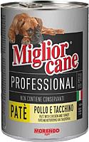 Корм для собак Miglior Cane Professional Patè Chicken&Turkey (400г) -