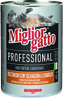 Корм для кошек Miglior Gatto Professional Game&Rabbit (405г) -