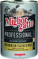 Корм для кошек Miglior Gatto Professional Chicken&Liver (405г) -