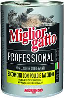 Корм для кошек Miglior Gatto Professional Chicken&Turkey (405г) -