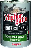Корм для кошек Miglior Gatto Professional Lamb&Vegetables (405г) -
