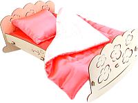 Сборная игрушка POLLY Кроватка для пупсов со спальным набором -