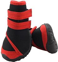Ботинки для собак Triol YXS134-XS / 12241233 (черный с красным) -