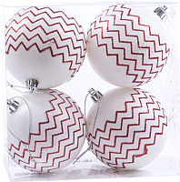 Набор шаров новогодних Белбогемия 25555411 / 86569 (4шт) -