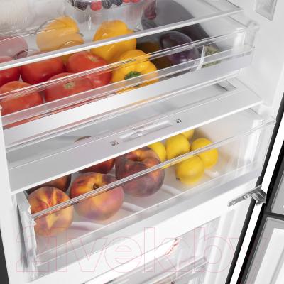 Холодильник с морозильником Maunfeld MFF 185NFB