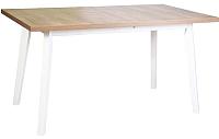 Обеденный стол Drewmix Oslo 5 (дуб лефкас/белый) -