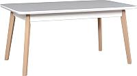 Обеденный стол Drewmix Oslo 7 (белый/бук) -