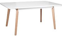 Обеденный стол Drewmix Oslo 8 (белый/бук) -