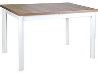 Обеденный стол Drewmix Max 5 P (дуб лефкас/белый) -