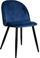 Стул Седия Honnor (синий велюр HLR-64/черный) -