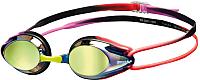 Очки для плавания ARENA Tracks Mirror 92370784 (фиолетовый/черный/оранжевый) -
