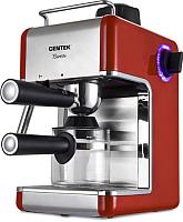 Кофеварка эспрессо Centek CT-1161 (красный/нержавеющая сталь) -