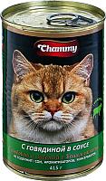 Корм для кошек Chammy Говядина в соусе (415г) -
